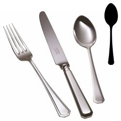 Grecian Dessert spoon, silver plate