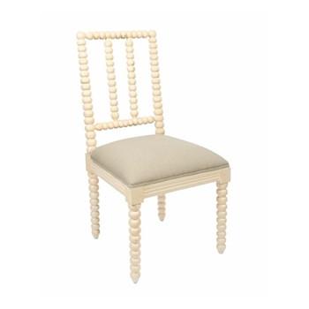 Bobble Dining chair, 48 x 50 x 96cm, white edge