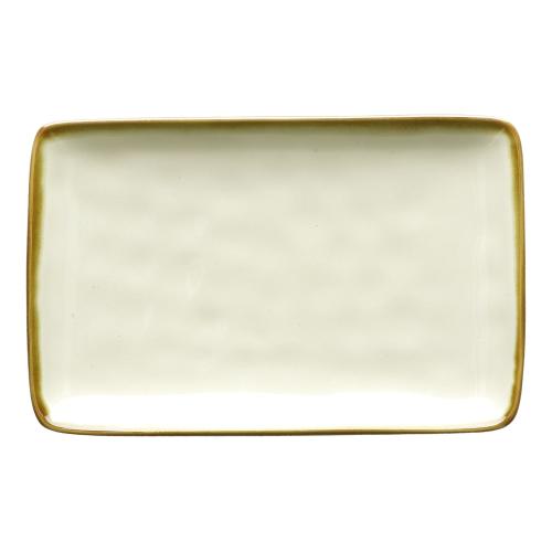 Concerto Pair of rectangular trays, L20 x W13cm, Ivory