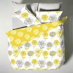 Banbury Floral Double duvet set, 200 x 200cm, yellow
