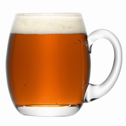 Bar Beer tankard, 500ml, clear