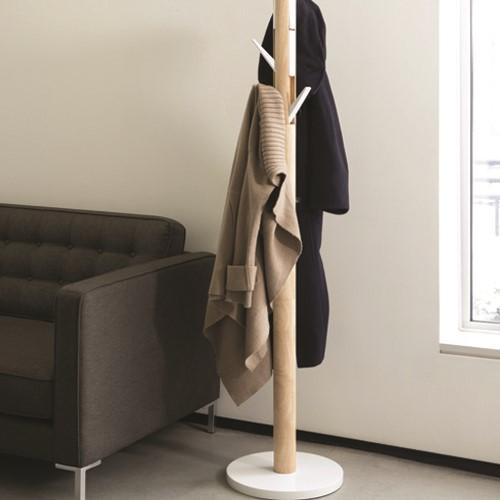 Flapper Coat rack, 57 x 165cm, White/Natural