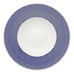 Harvard Soup plate, 25 x 5cm, blue