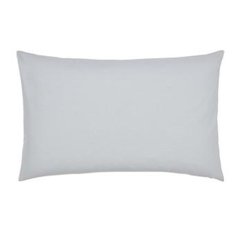300 Thread Count Plain Dye Blue Hotel Standard pillowcase, L48 x W74cm, platinum