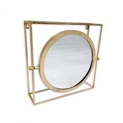 Orion Mirror, H51 x W51 x D15cm, gold
