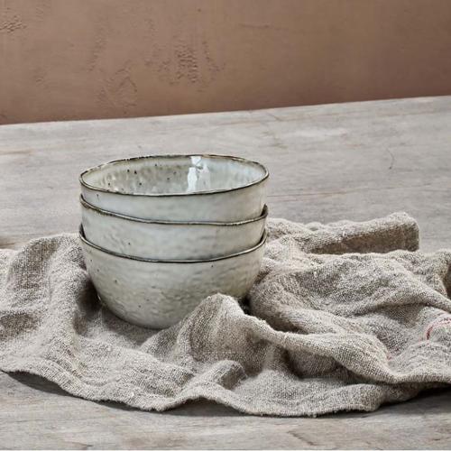 Amina Bowl, H7 x W15 x D15cm, Grey