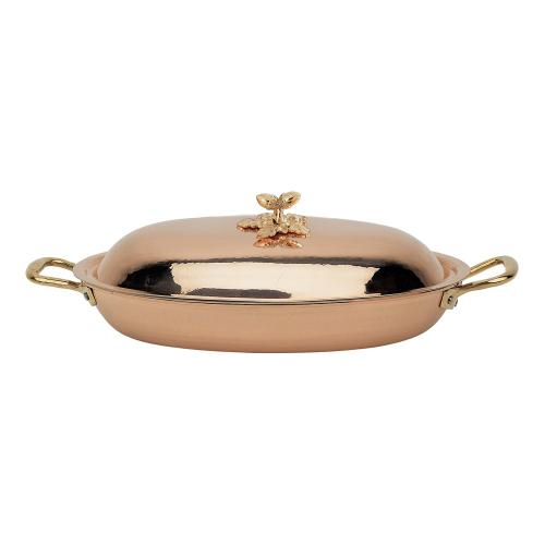 Historia Oval dish, L36 x W25cm, Copper