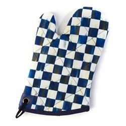 Royal Check Oven mitt, W17.78 x L30.48cm, blue & white