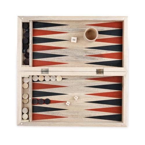 Mango Backgammon, 7 x 20 x 40cm, Mango Wood