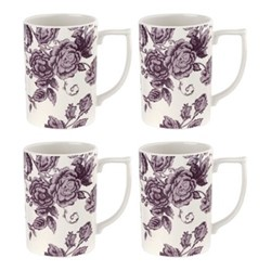 Kingsley Set of 4 mugs, white