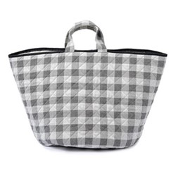 Woodhouse Check Storage basket, 70 x 40cm, black
