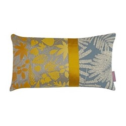 Falling Leaves Cushion, H30 x W50cm, storm/turmeric ombre