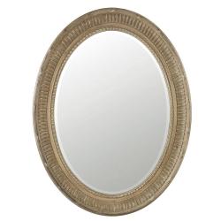 Killarney Oval mirror, H86 x W66cm, carved wood frame