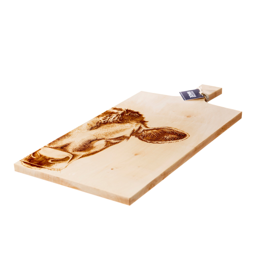 Jersey Cow Large sycamore paddle, L65 x W30 x H2cm, Sycamore