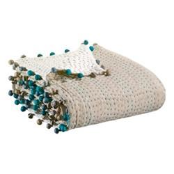 Gastounet Bed cover, 220 x 220cm, green