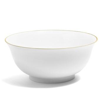 Line - Colour Serving bowl, H11.7 x D27.5cm, metallic gold