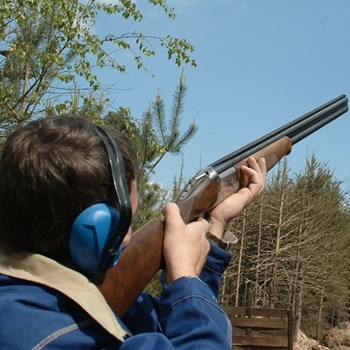 Clay pigeon shooting for two at Holland and Holland