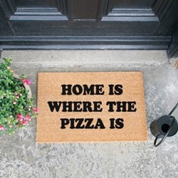 Where The Pizza Is Doormat, L60 x W40 x H1.5cm