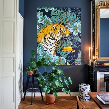 Graphic - Tiger Jungle & Toucan Family Wall decoration, 80 x 100cm