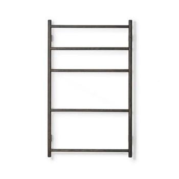 Wall Bar Towel rail, H10.70 x W65.5 x D9.5cm, dark brown