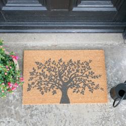 Tree of Life Doormat, L60 x W40 x H1.5cm, Grey