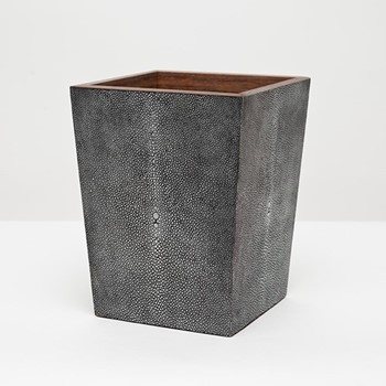 Manchester Wastebasket, H28 x W20cm, cool gray faux shagreen