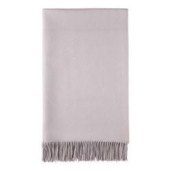 Plain Cashmere woven bed throw, 230 x 150cm, pale lavender