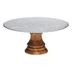 Industrial Kitchen Footed cake stand, 19 x 10cm, mango wood