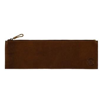 Leather tool pouch, H13 x L40cm, cognac