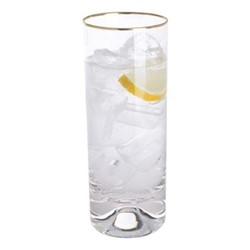 Dimple Pair of highball glasses, H16.5cm - 37cl, gold