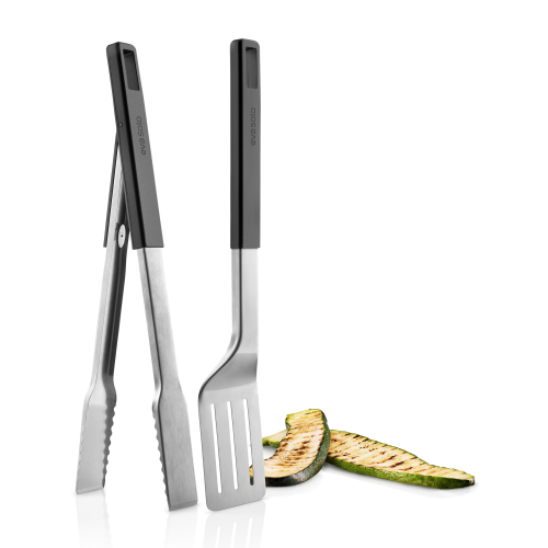 Grill set with tongs and spatula, 44cm