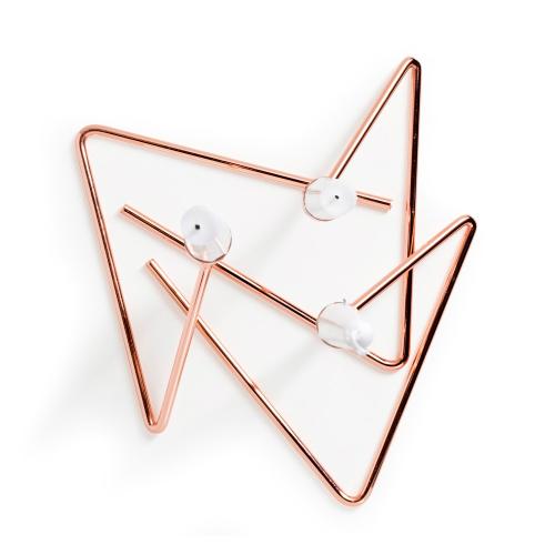 Puzzle Set of 3 candlesticks, Copper