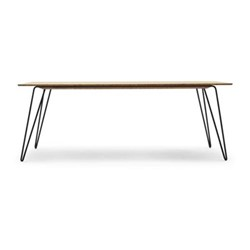 Ray Rectangular dining table, 210 x 85 x 76cm, natural/black