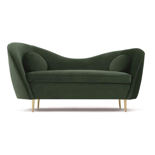 Kooper 2 seater sofa, H83 x W165 x D73cm, Pine Green