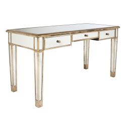 Versailles Dressing table, L152 x W66 x H79cm, antique mirrored