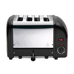 Classic Bun toaster, 4 slot, black