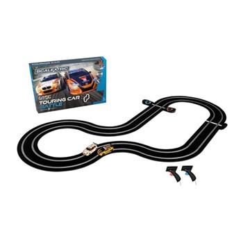 BMW 1 Series vs Honda Civic BTCC touring car battle, track length: 484cm