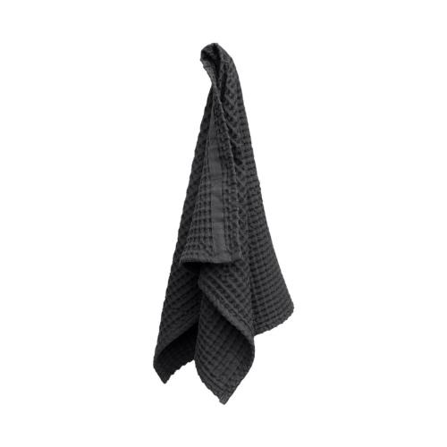 Waffle Hand towel, 50 x 75cm, dark grey