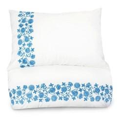 Giselle Double bedding set, 200 x 200cm, white/blue