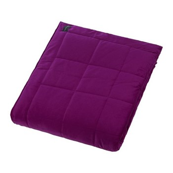 Square Velvet bedspread, W240 x L200cm, grape