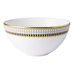 Oscillate - Onyx Deep coupe bowl, D14.5 x H7cm, black/white