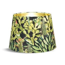 Opuntia Anthracite Cone lampshade with metallic gold lining, H30 x L45 x W45cm, green & multi