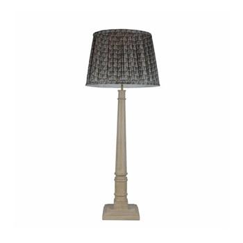 Pillar Lamp, 16 x 16 x 56cm, bleached white
