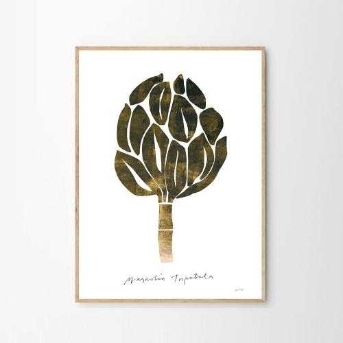 Magnolia, Nygards Maria Bengtsson, H40 x W30cm, Green