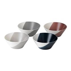 Bowls of Plenty Set of 4 bowls, 20.5cm, brown/grey