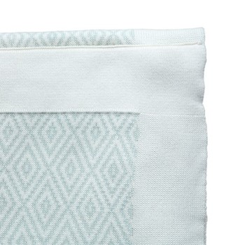 Baby Blanket Baby blanket, W90 x L120cm, mint green and beige