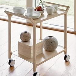 Teatime Trolley, W75 x D48 x H76cm, natural ash