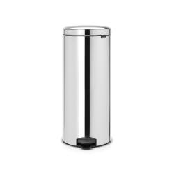newIcon Pedal bin, 30 litre, Brilliant Steel