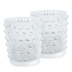 Mossi Pair of votives, Clear