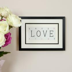 LOVE Small frame, 40 x 30cm